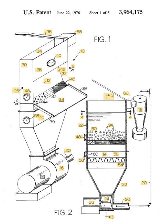 Sivitz Coffee Roaster Patent Image 1974